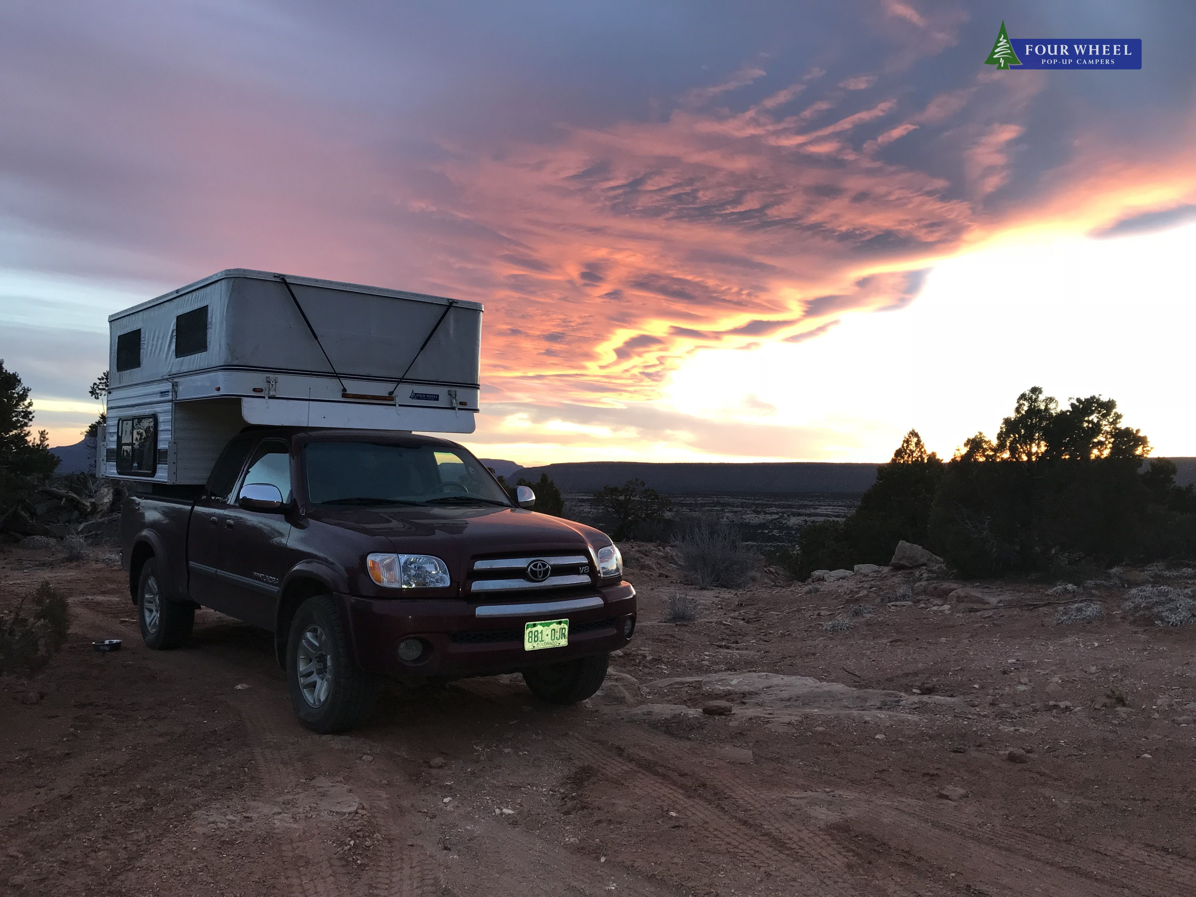 Four Wheel Camper On A Toyota Tundra Sunset Fourwheelcampers