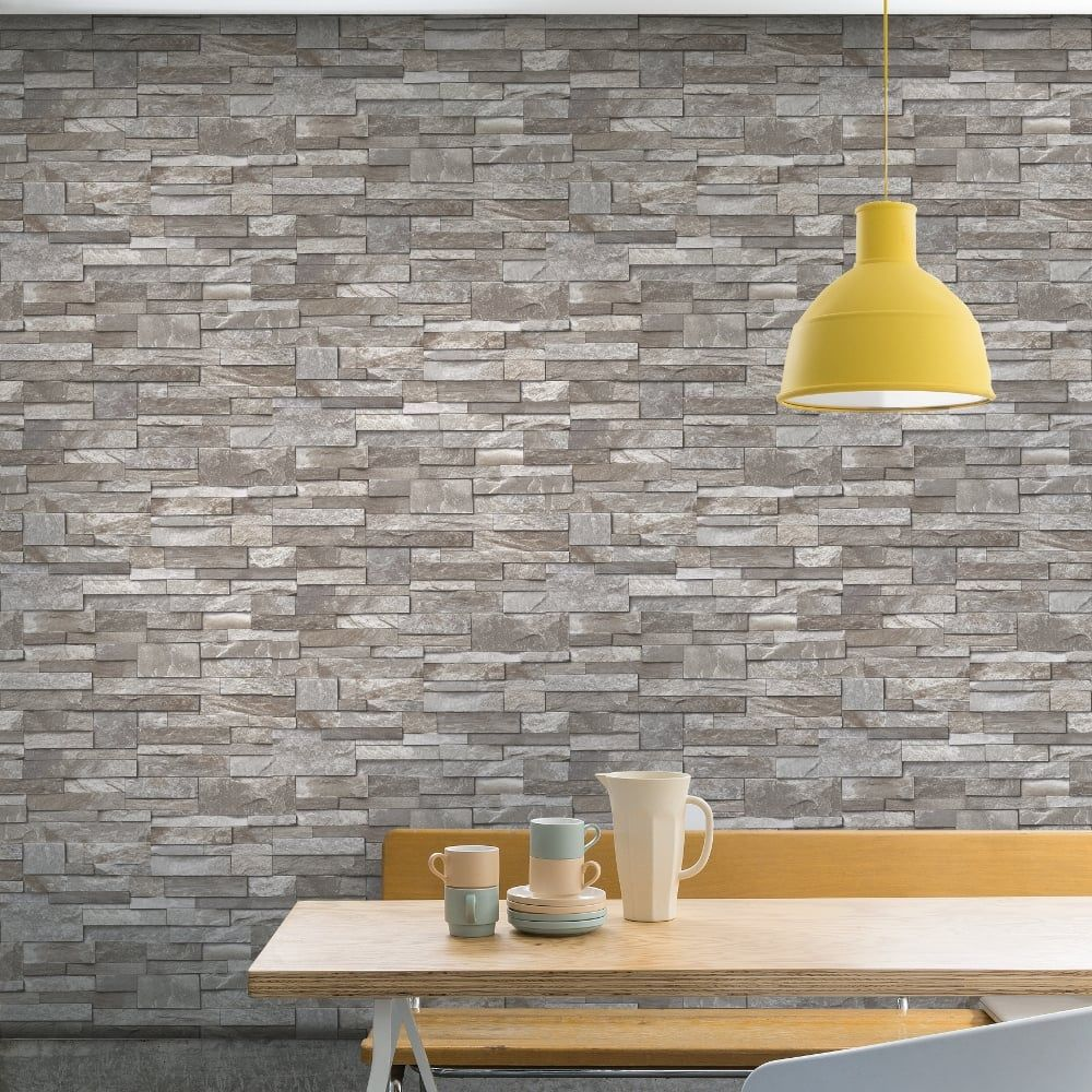 Grandeco Grandeco Stone Pattern Wallpaper Faux Effect