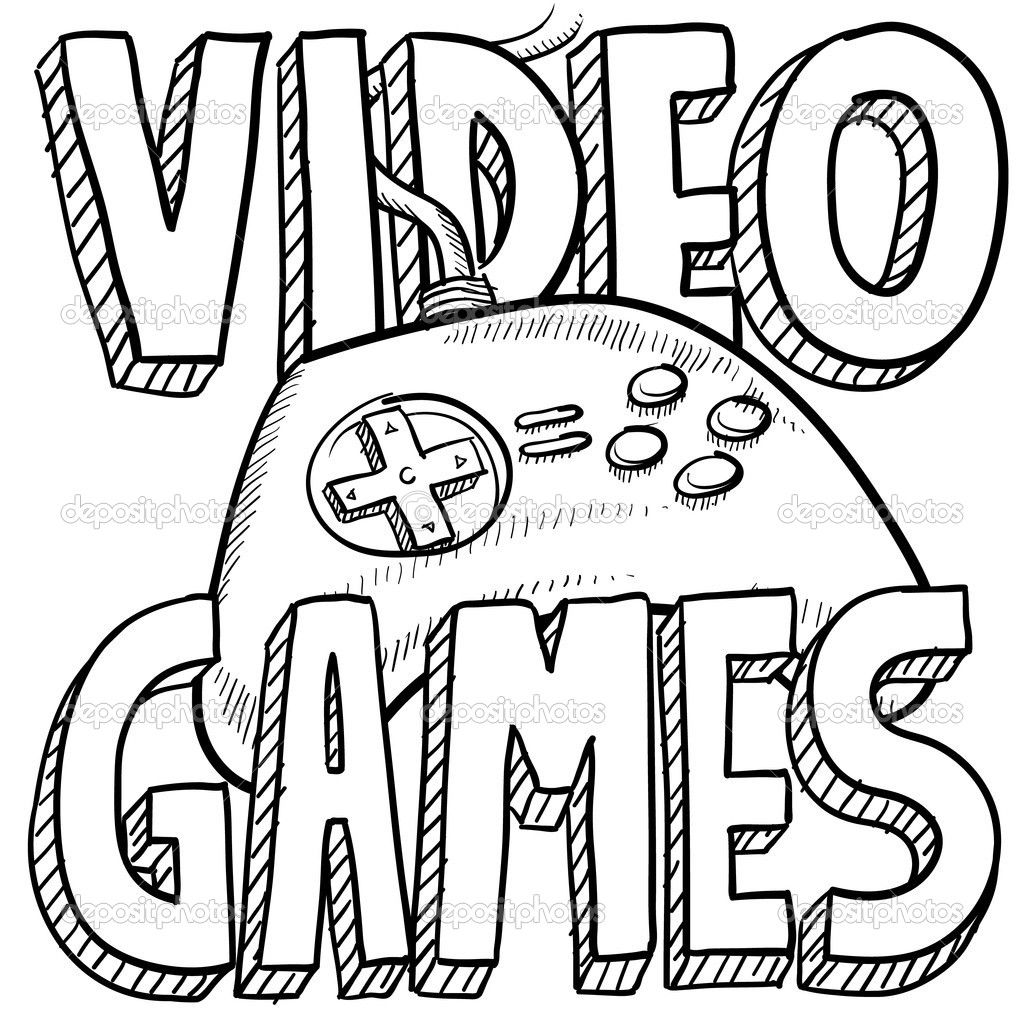 I Enjoy Playing Video Games With My Friends It Keeps Me Kinda Social With Them Outside Of School Fun Drawing Games Sport Illustration Drawing Games