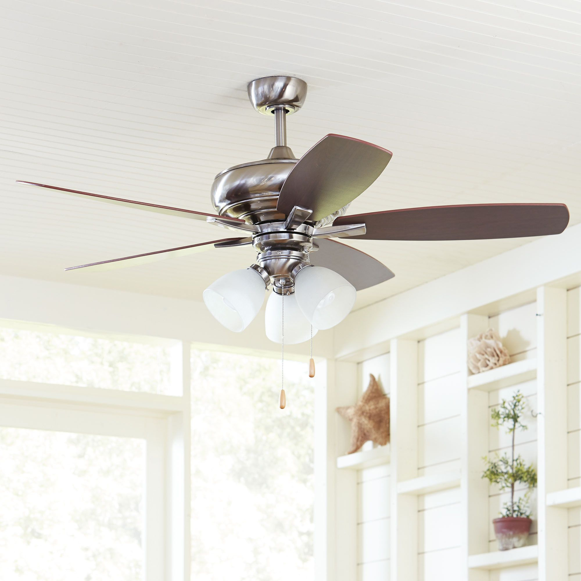 Birch Lane Aldridge Ceiling Fan Silver Stay Cool With This