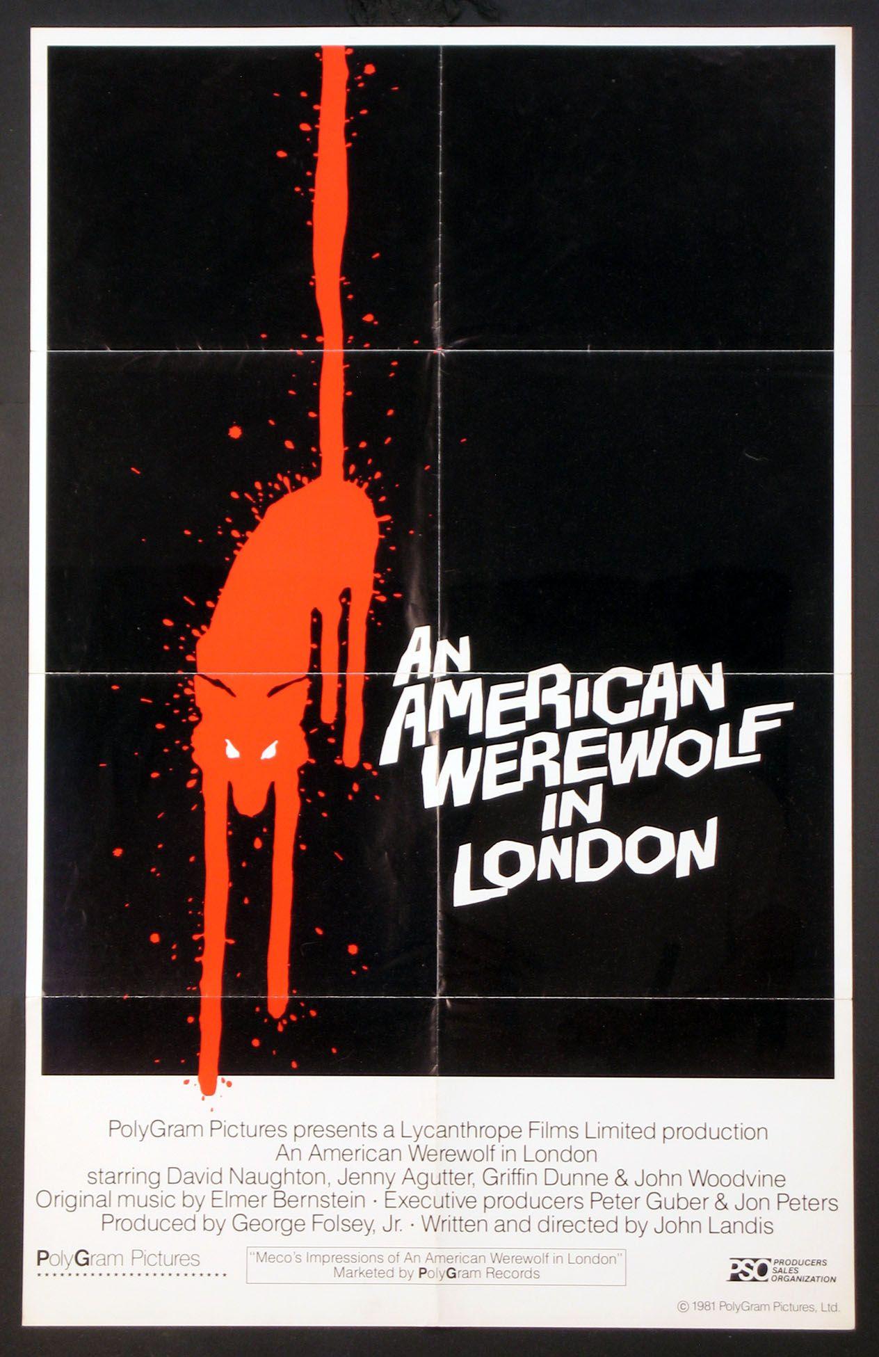 AN AMERICAN WEREWOLF IN LONDON (1981) Original one sheet