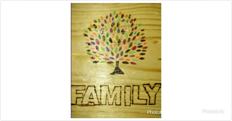 Family Tree Wood Wall Decor- Woodburn Family Tree Decor - Family ...