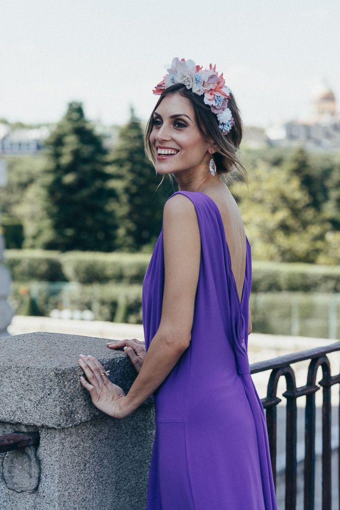 BRIDALADA: LOOK DE INVITADA DE BODA MORADO CON ZAPATOS