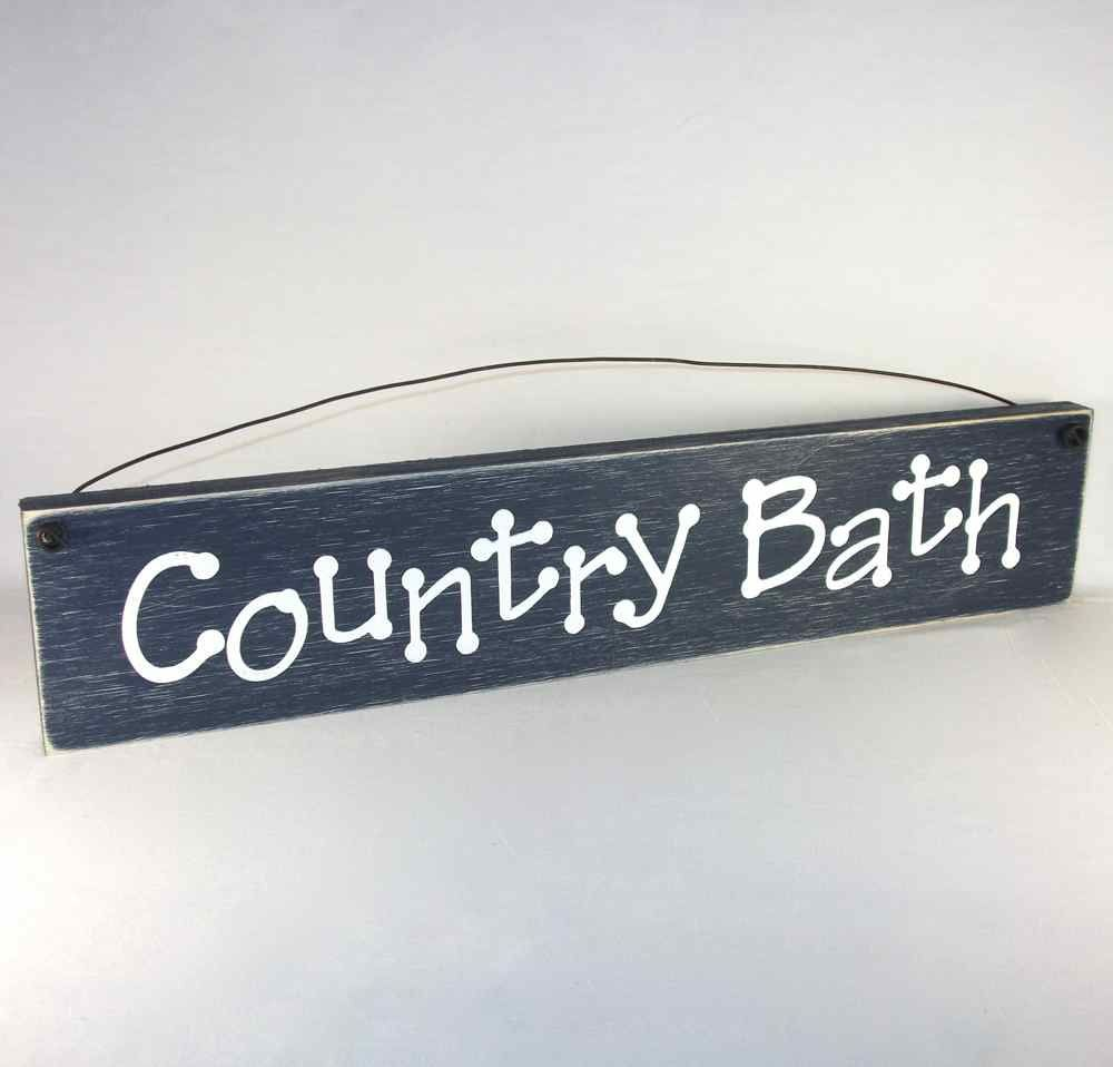 Outer Banks Country Bath Sign Primitive Bathroom Wall Decor
