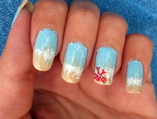 15 Outstanding Beach Nail Art Ideas Sheideas Beach Nail Designs Beach Nails Beach Nail Art Tutorial