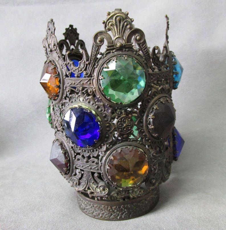 Antique Victorian Jeweled Fairy Lamp Shade Ebay Fairy
