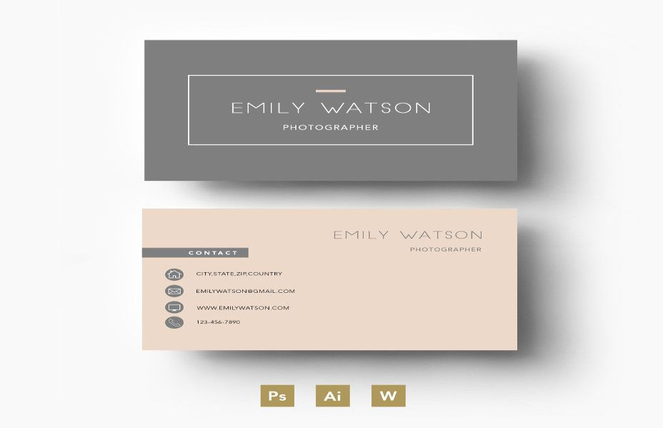 25 Personal Business Card Templates In Psd Word Format Business