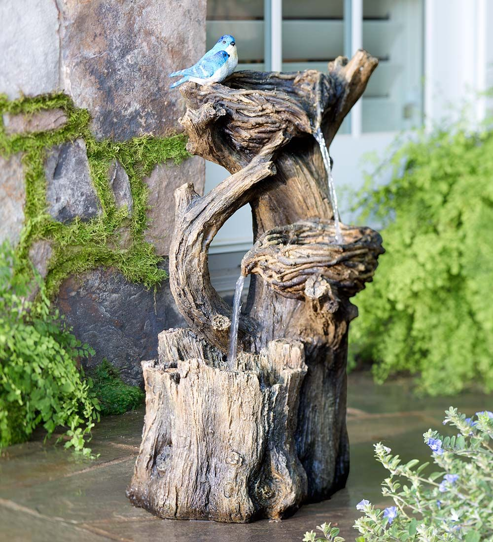 Birds Nest Garden Fountain | Garden Statues | Electric Fountain, Indoor  Fountain, Outdoor Fountain