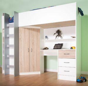 Cambridge High Sleeper Cabin Bed Inc Wardrobe Chest Of