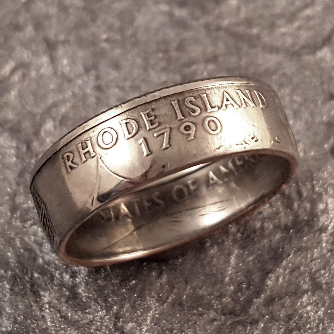 Rhode Island Coin Ring YOUR SIZE 5 to 10.5 MR0705-TSTRI