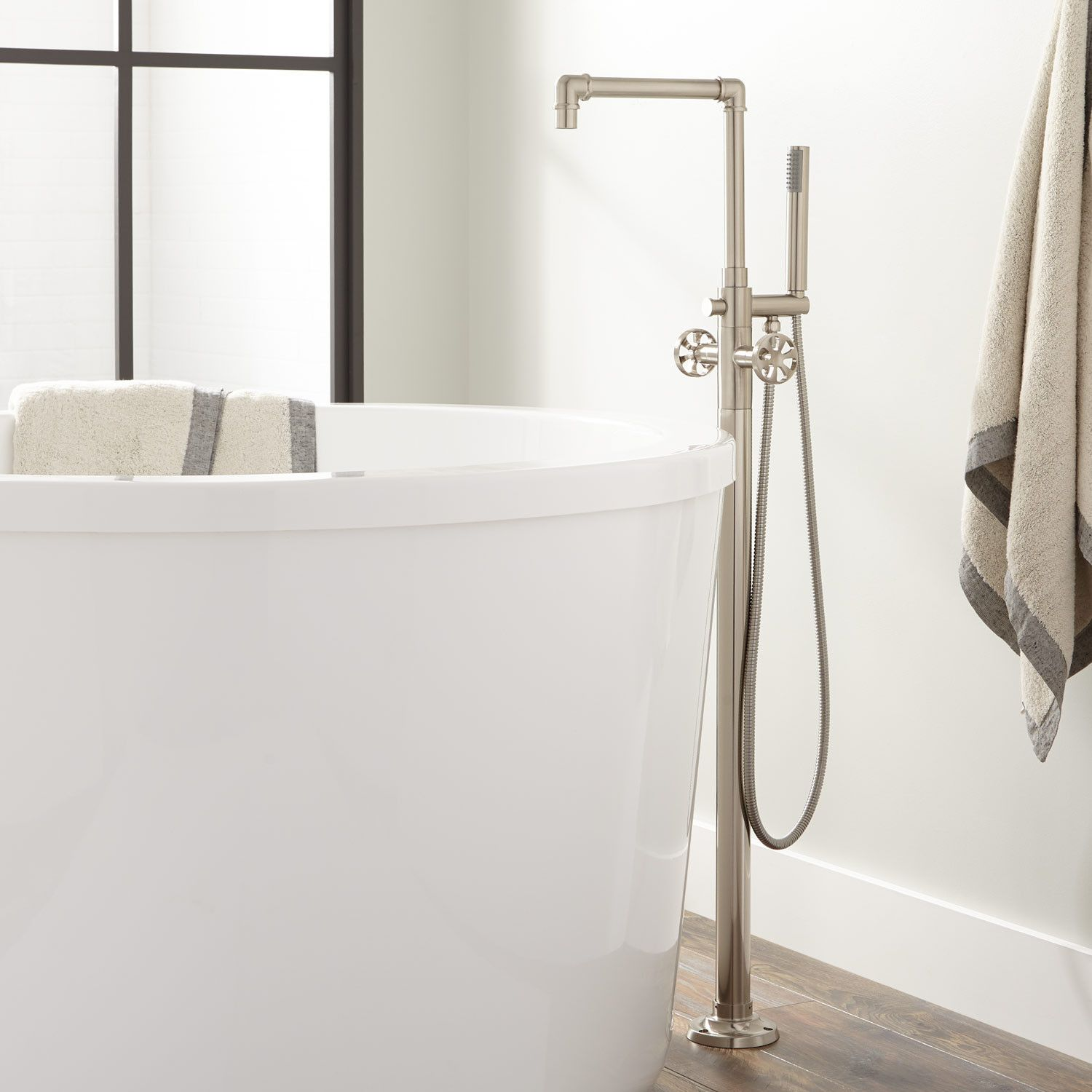 Edison Freestanding Tub Faucet With Hand Shower Signature