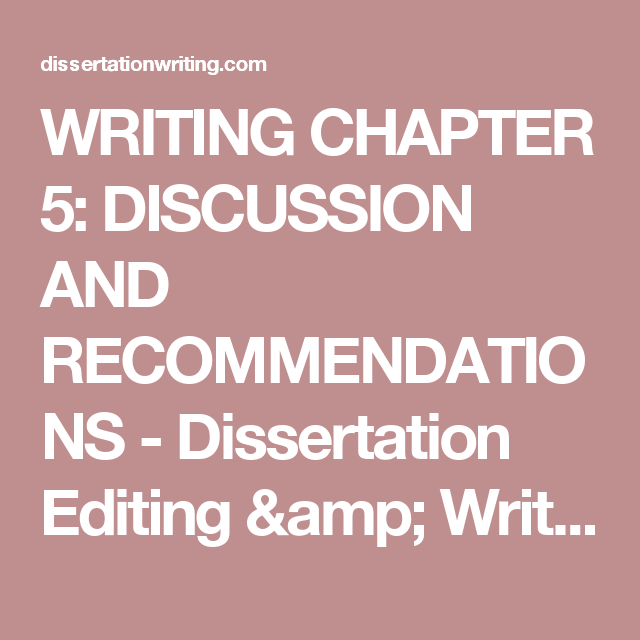 dissertation chapter 5 discussion