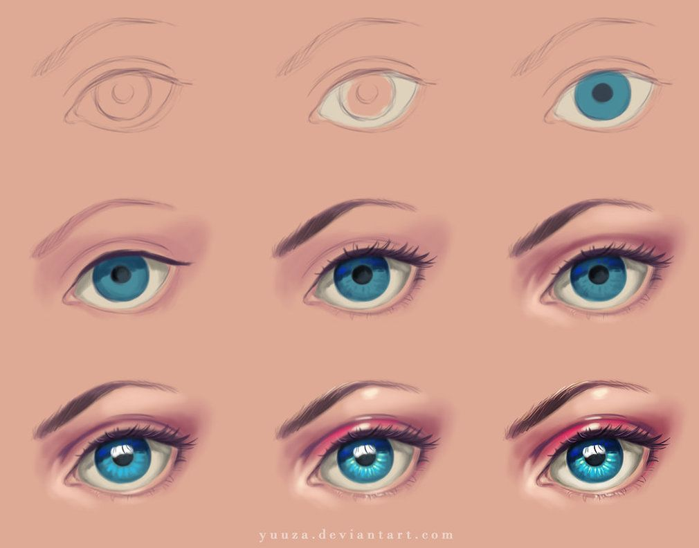 Eye Step By Step Digital Painting Tutorials Eye Drawing Tutorials Eye Painting