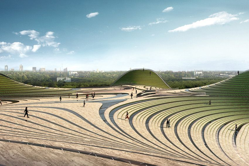 Exhibition Plaza by KUANLU Architects (Otog, Mongolia, China)