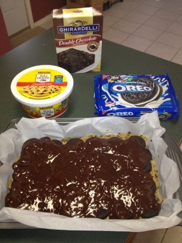 Katherine in the Kitchen: Quick, Easy, Healthy Recipes: Oreo Cookie Dough Brownies #healthycookiedough