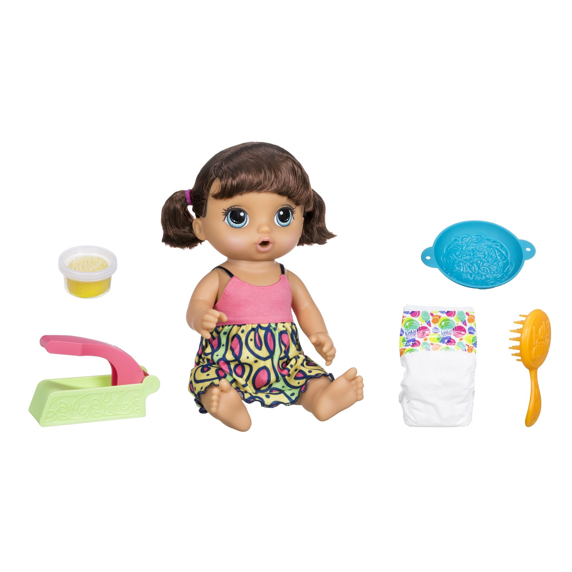Baby Alive Super Snacks Snackin Noodles Baby Brunette Multi Color Baby Alive Magical Scoops Realistic Baby Dolls Baby Alive Dolls