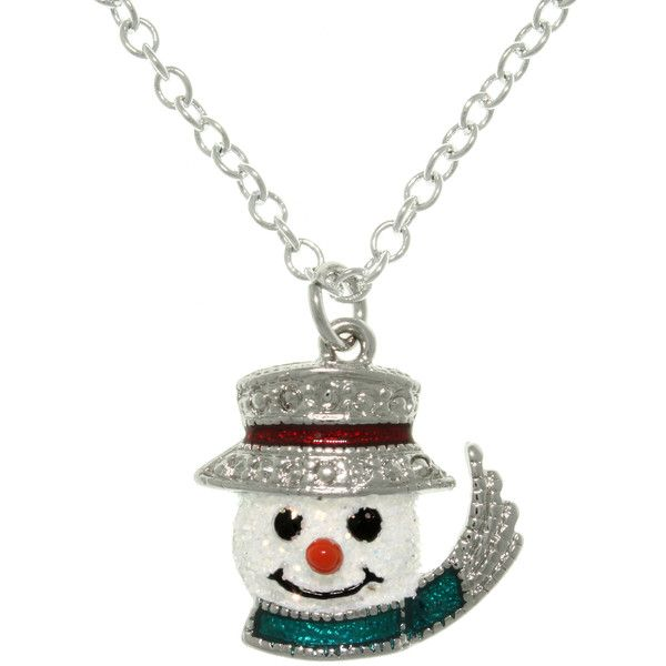 Carolina Glamour Collection Pewter Enamel Frosted Snowman Charm... (£11) ❤ liked on Polyvore featuring jewelry, necklaces, multi, pewter necklace, enamel charms, cable chain necklace, enamel necklace and unisex jewelry