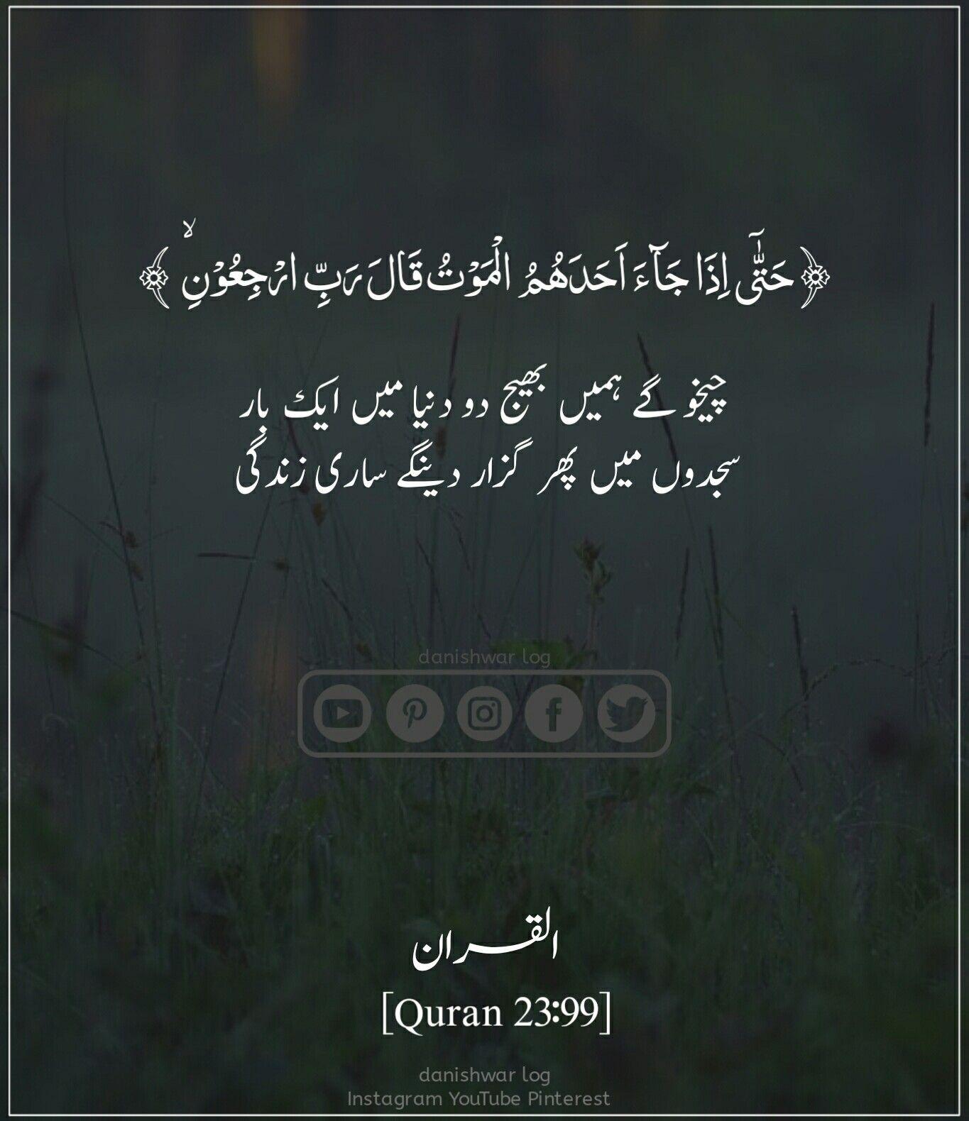 چیخو گے ہمیں بھیج دو دنیا میں Quran Quotes Islamic Quotes