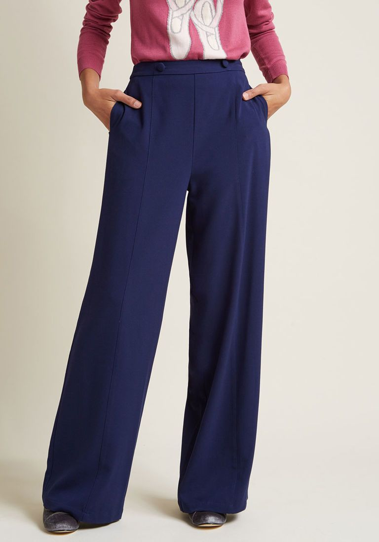 Pantalon Jambe Droite - Costumein Bleu CxvE3zhhJK