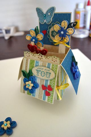 Quilling Pop Up Card 6 Steps With Pictures