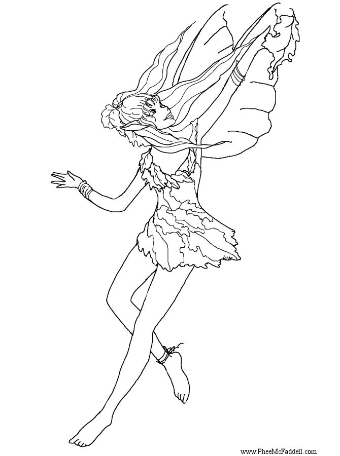 Fall Fairy www.pheemcfaddell.com | Fantastical Coloring pages ...