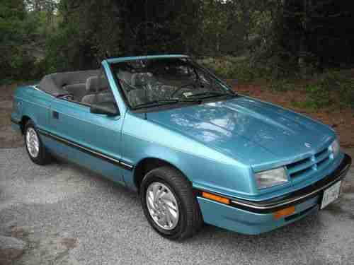 1992 Dodge Shadow Es Convertible 3 0l Ours Was Exactly Like This