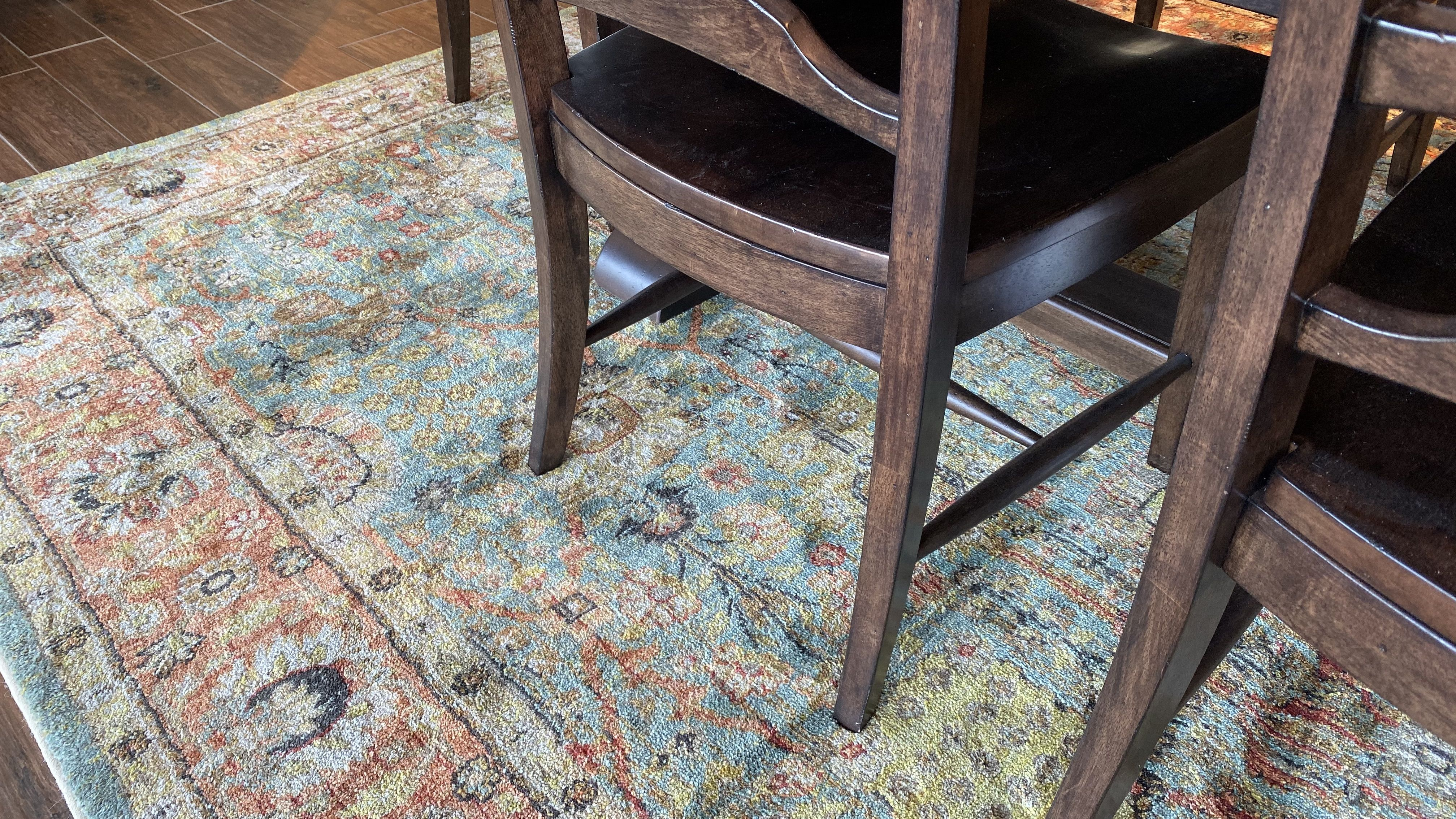Add a rug under your dining table
