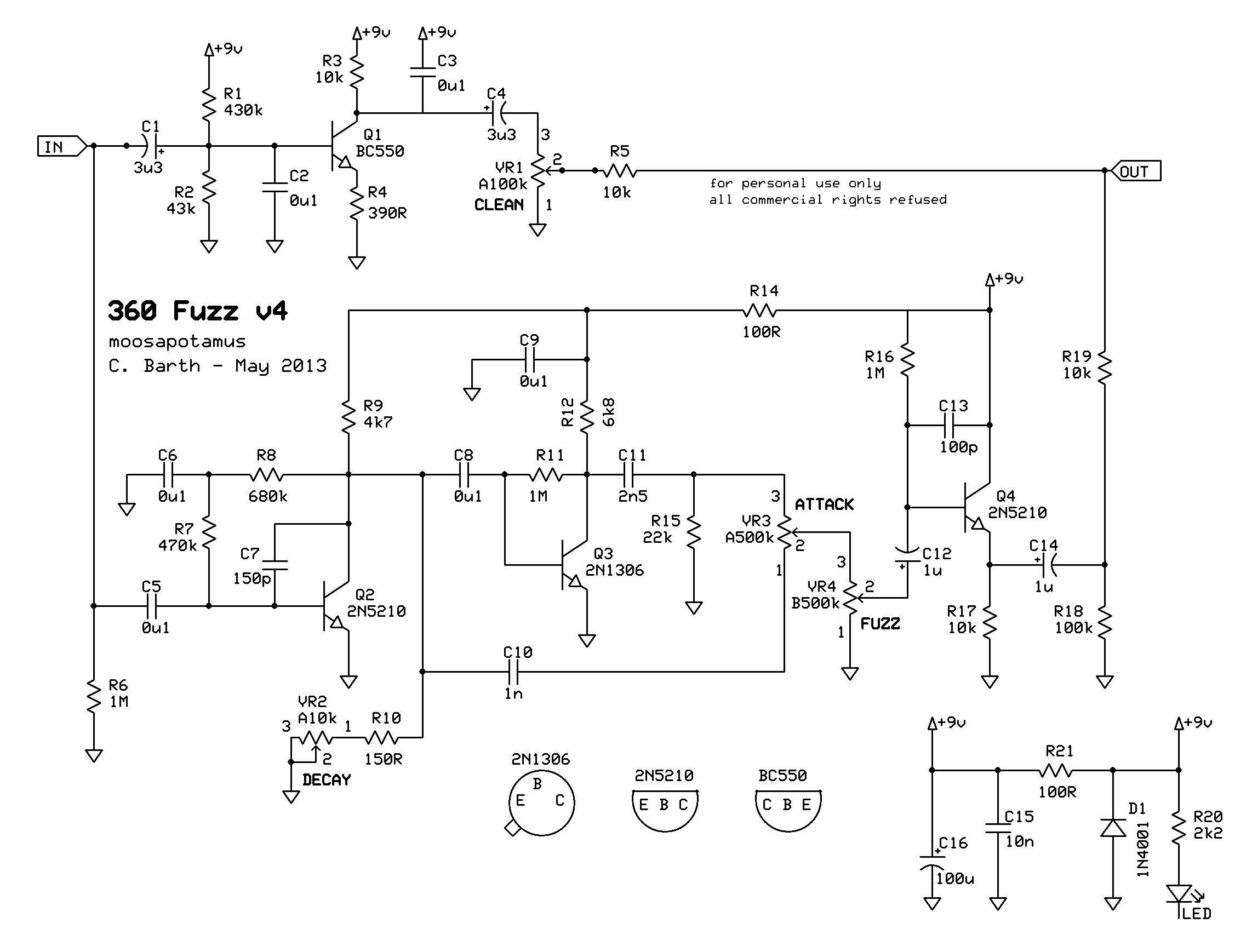 360fuzz V4 Sch 22851738 Pixels Circuit And Logic Pinterest Octaver Fuzz Guitar Effect Unit Schematic Diagram