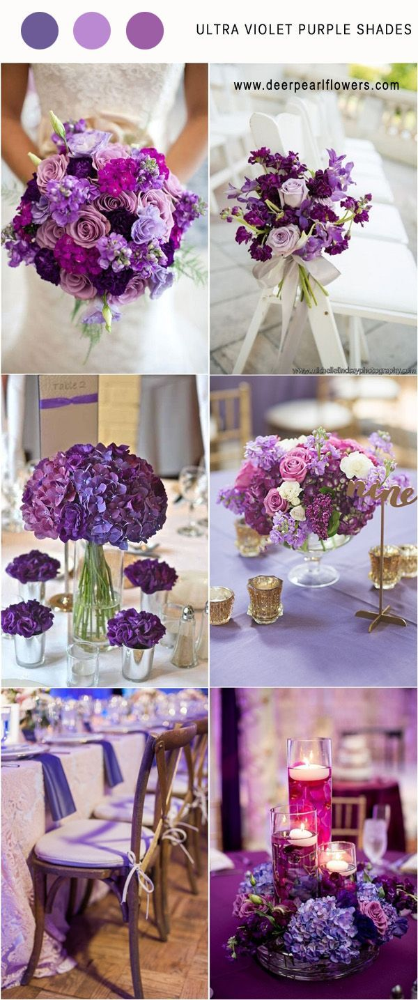 Pantone Wedding Color 2018: 7 Ultra Violet Color Palette for   - Hochzeitsfarben -