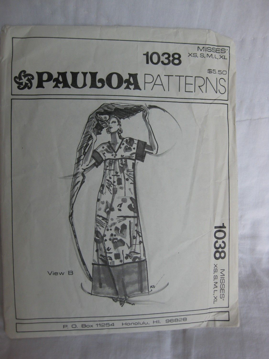 Vintage Hawaiian MuuMuu Dress Pattern