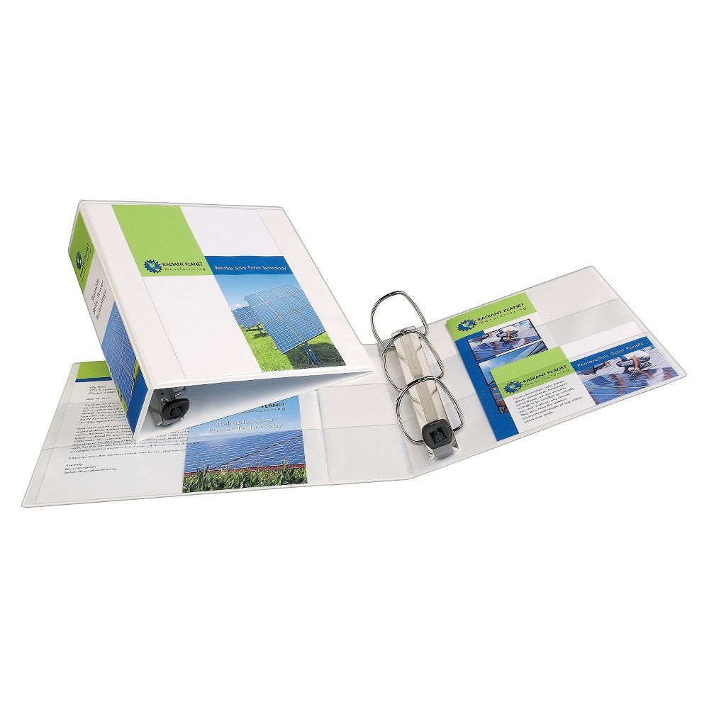 avery 3 ring binder with hard cover 8 5 x 11 white products