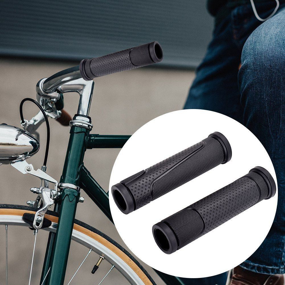 1 Pair Soft BMX MTB Cycle Mountain Bicycle Bike Handle bar Rubber End Grip Tool