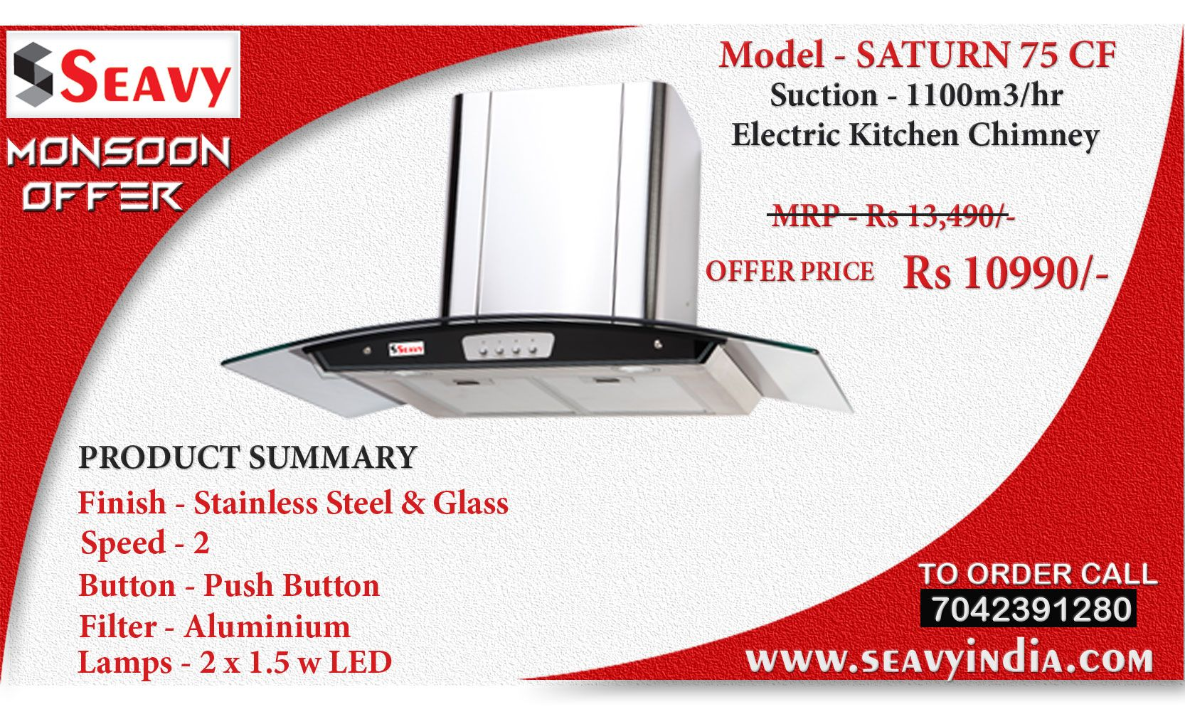 Uncategorized Kitchen Appliances Price seavy saturn 75 cf electric kitchen chimney price home and and