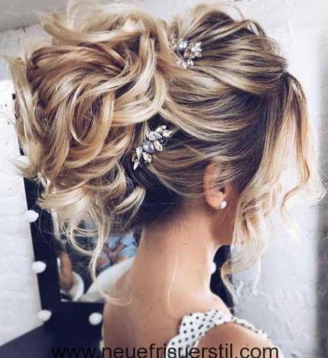 Messy Bun Lange Hochzeit Frisur  Hair Ideas in 2019
