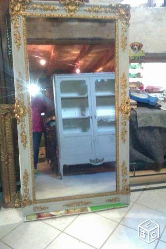 grand miroir ancien patin dcoration haute sane leboncoinfr