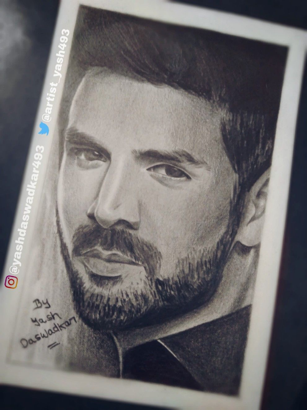 Kartik aaryan sketch drawn by yash daswadkar pencil portrait drawing sketches drawing ideas