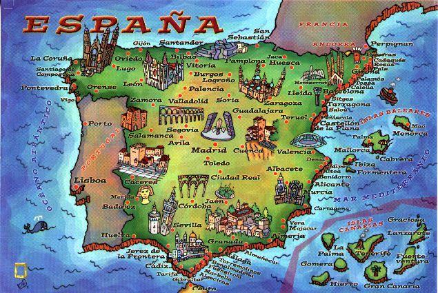 turismo espanha mapa España turistica | Espanhol   tudo sobre espanhol | Pinterest  turismo espanha mapa