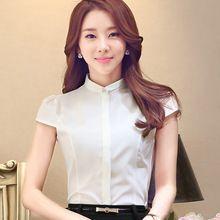 2016 verão nova coreano mulheres Slim cor sólida de manga curta blusa mulheres tamanho s-4XL(China (Mainland))