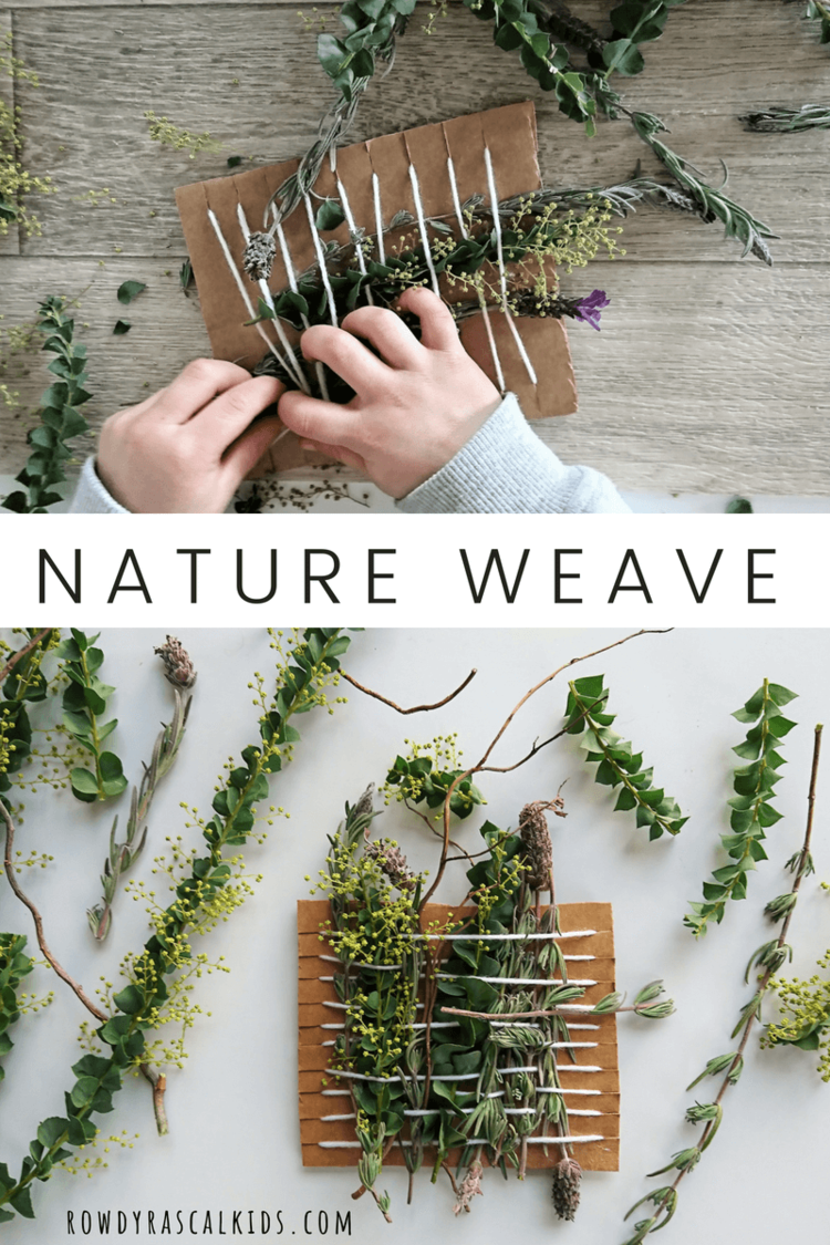 Simple Nature Weave for kids | Weaving for kids, Preschool art ...