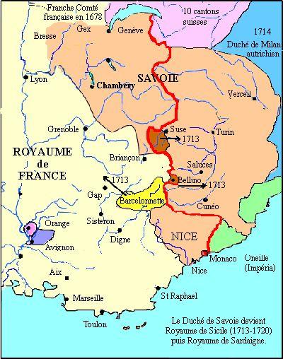 Royaume De Savoie Piemont Sardaigne Savoie Carte Savoie Sardaigne