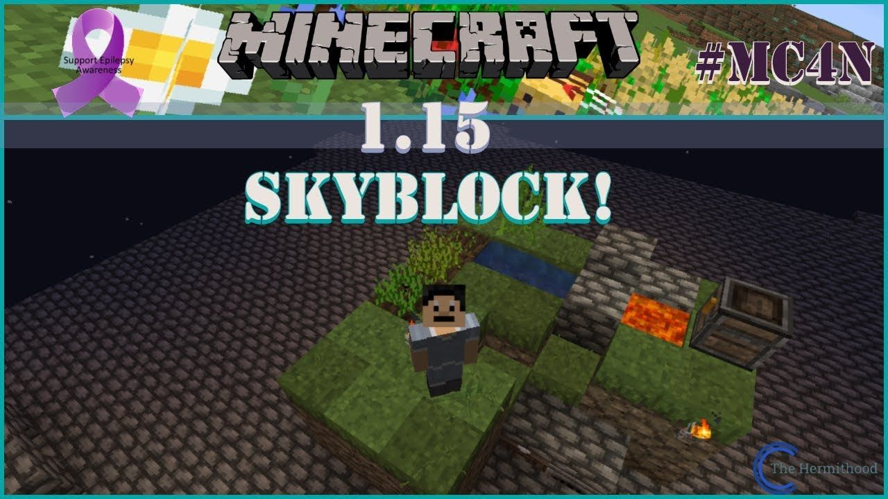 Getting Started With Skyblock 1.15 Minecraft How to play