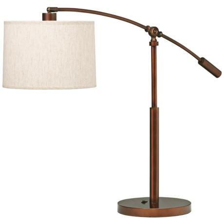 Kichler Cantilever Copper Bronze Swing Arm Table Lamp P5870 Lamps Plus Table Lamp Lamp Copper Table Lamp