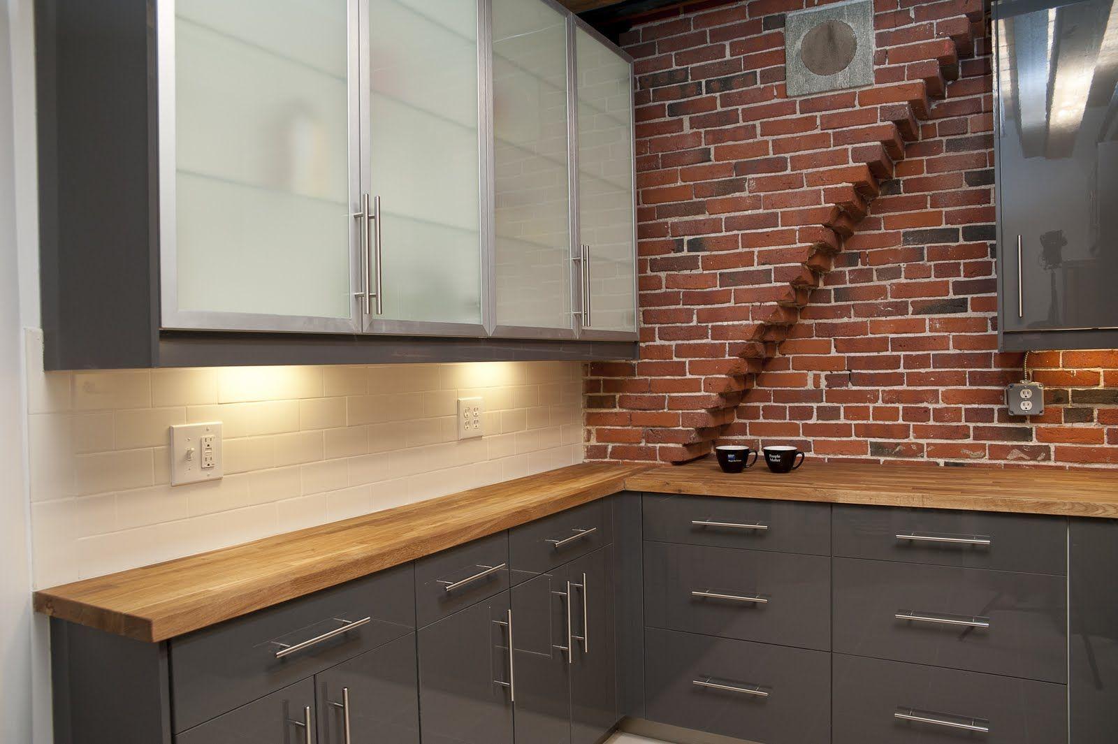 interior brick wall kitchen - google search | art | pinterest