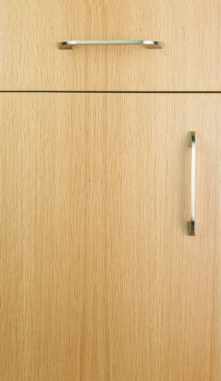 Contempo door style on Rift Cut White Oak finished natural | Door ...