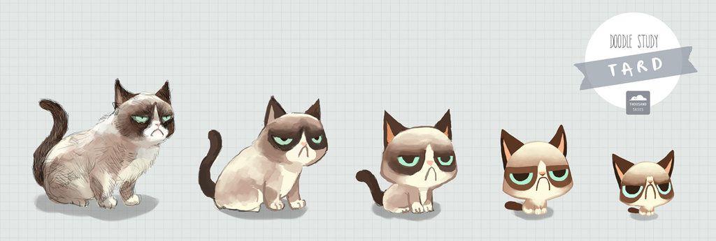 Tard the Grumpy Cat by ethe.deviantart.com