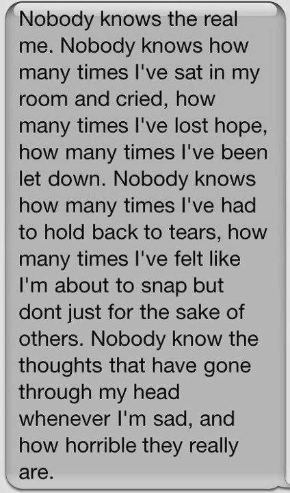 No One Wants To Know Trust Me My Thoughts The Last Few Years Have
