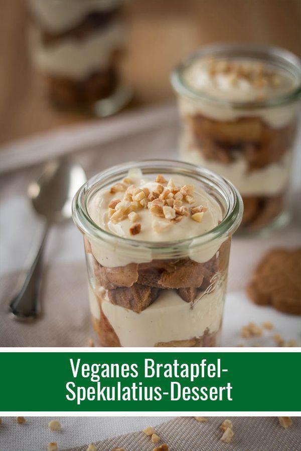 Veganes Bratapfel-Spekulatius-Dessert (nicht nur für Weihnachten!)