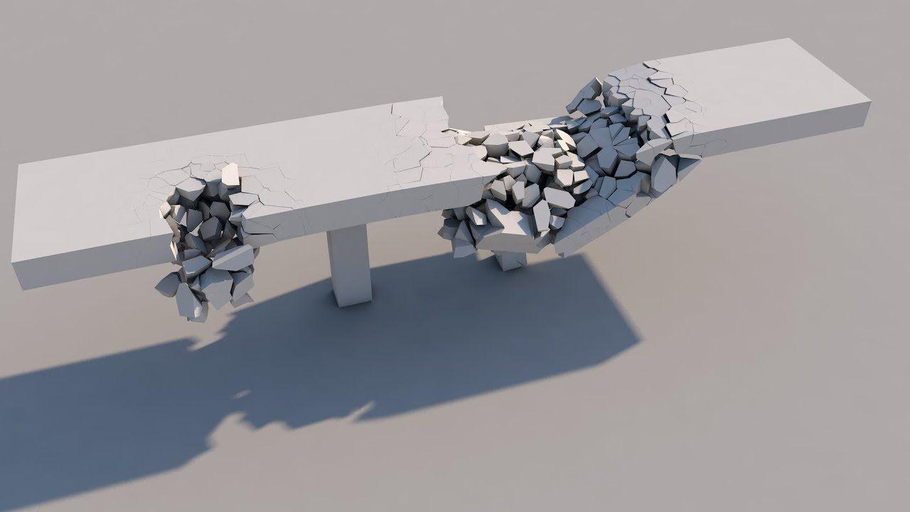 Bridge Collapse - Voronoi Fracture in Cinema 4D   C4D