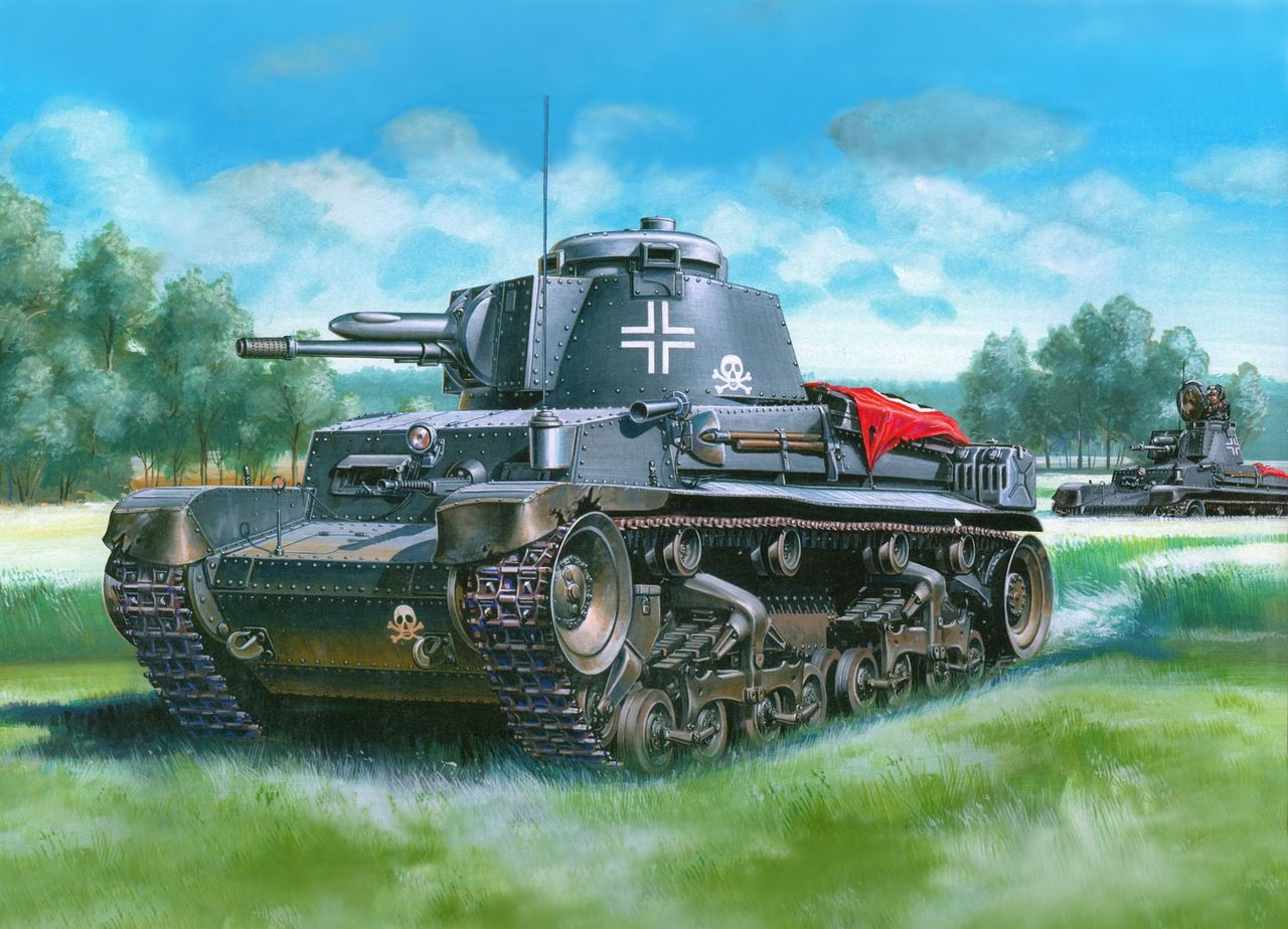 Pin on WWII German Tanks paintings