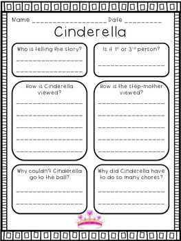 The egyptian cinderella writing activity